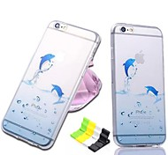 Ocean Series Dolphin Pattern Soft Case and Phone Holder for iPhone 6/6S