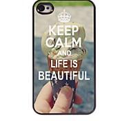 Ruhe bewahren und das Leben ist schönes Design Aluminiumkasten für iphone 4 / 4s