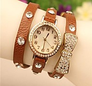 Women's 2015 The Latest Bowknot Fashion Leather Japanese Quartz Watch(Assorted Colors)
