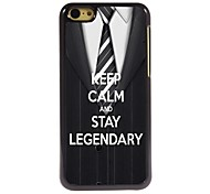 Keep Calm and Stay Legendary Design Aluminum Case for iPhone 5C