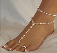 элегантный белый жемчуг босиком сандалии * 1 шт для оптовой