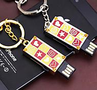 amotaios amo-uf132 (8 g) 8 GB USB 2.0 Flash-Stick Schlüsselbund / Metal-Stil / crystal
