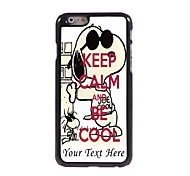 Personalized Phone Case - Keep Calm and BE Cool Design Metal Case for iPhone 6 Plus
