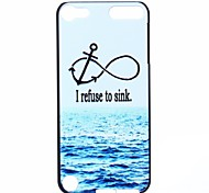 Sea Anchor Pattern PC Hard Back Cover Case for iTouch 5