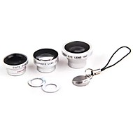 Magnetic Adsorption Universal Set 4in1 Fish Eye Wide Angle Micro Telephoto Camera Lens for iPhone HTC Samsung Sony etc.