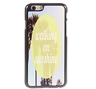 Walking on Munching Design Aluminium Hard Case for iPhone 6