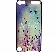 Be Free Words Birds Pattern PC Hard Back Cover Case for iTouch 5