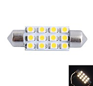 GC®  39mm 3W 150LM 3000K 12x3528SMD Warm White LED for Car Reading / License Plate / Door Light Lamp (DC12V)