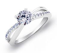 croisées quatre anneaux de cristal de la griffe des femmes vintages