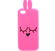 Lovely Cute 3D Bunny with Ears Designed Silicone Soft Case for iPhone 5/5S