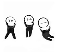 Cute Baby Shape Cartoon Silicone Earphone Cable Wire Cord Organizer Cable Winder 3pcs