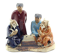Guyun Ceramic Four People Playing Chess Decoration for Aquarium