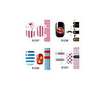 14PCS Cartoon Nail Art Stickers S1 Series NO.1237-1241(Assorted Pattern)