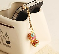 Новый алмазов цепи соцветий 3,5 Anti-Dust Разъем для iPhone (ассорти цветов)