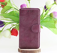 For iPhone 6 Case / iPhone 6 Plus Case Wallet / Card Holder / with Stand / Flip / Frosted Case Full Body Case Solid Color HardGenuine