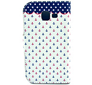 Red and Blue Small Rivets Pattern PU Leather with Case and Card Slot for Galaxy Trend Lite S7390/S7392