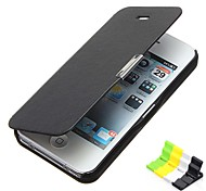 Frosted Design Magnetic Buckle Full Body Case and Phone Holder for iPhone 5C
