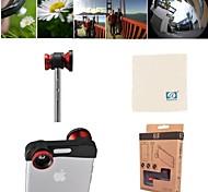 Apexel rapido lente 3-in-1 cambio fotocamera con obiettivo fish eye, grandangolo e lenti macro per iPhone 6 (colori assortiti)