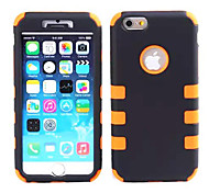 Shockproof  Armor PC + Silica Gel 2 in 1 Design Combo Defender Back Cover Case for iPhone 6 (Assorted Colours)
