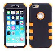 armadura pc + gel de sílice a prueba de golpes 2 en 1 diseño combinado defensor caso de la contraportada para el iphone 6 (colores