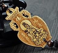 LEBOSH®High-quality Goods Pear Wood Pendant Goddess of Mercy Length of 7.8 Width of 4.8
