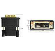 DVI-I 24 + 1pin macho a HDMI adaptador hembra