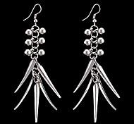 Large Metallic Tassel Earrings
