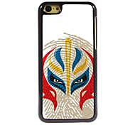 Chinese Face Pattern Aluminum Hard Case for iPhone 5C