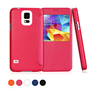 GGMM® Window-S5 Genuine Leather Cover Protective Case with View Window for Samsung Galaxy S5 I9600(Assorted Colors)