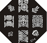 Nail Art Stempel Stamping Schablone Platte d Serie no.14