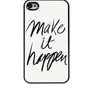 Make it happen Design Aluminum Case for iPhone 4/4S
