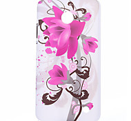 Water Lily of Ink Style Pattern Plastic Hard Cover for Nokia N630