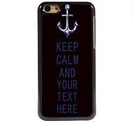 Personalized Case Anchor and Keep Calm Design Metal Case for iPhone 5C