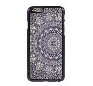 caso flower design de alumínio elegante para iphone 6 mais