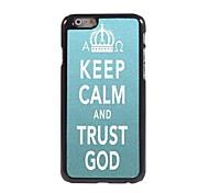 Keep Calm and Trust God Design  Aluminum Case for iPhone 6