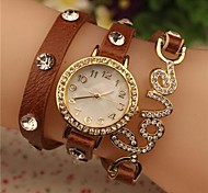 Women's 2015 The Latest Love Fashion Leather  Quartz Watch(Assorted Colors)