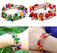 European And American Fashion Crystal Copper Beads Hand-Colored Shell-Type Winding String Bracelet Female Models