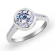 simples anéis de cristal redondo