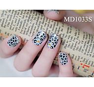 14PCS Fashion Glitter Powder Nail Art Stickers MD Series NO.1033S