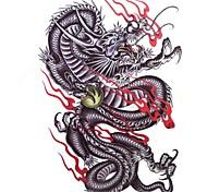 1pc impermeáveis multicoloridas grandes colorido Padrão Dragão tatuagem adesivos