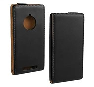 COCO FUN® Ultra Solid Genuine Flip Leather Case with Film and USB Cable and Stylus for Nokia Lumia 830