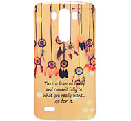 Colorful Windbell Pattern TPU Soft Case for LG G3