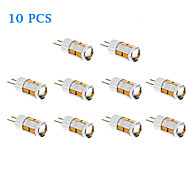 10 pcs G4 5W 10 SMD 5730 480 LM Warm White / Cool White T LED Corn Lights DC 12 V