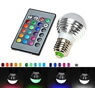 Bombillas LED de Globo Control Remoto E26/E27 3W 300 LM LM RGB AC 110-130 V 1 pieza