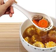 colher novidade doces drenagem colorido japonês (cor aleatória)