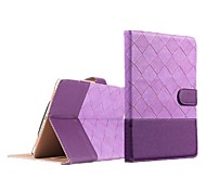 iPad Air compatible Grid Pattern PU Leather Smart Covers/Origami Cases