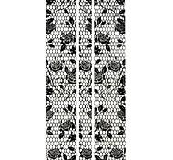 1PC Full Wraps Fashion Nail Art Stickers Nail Wraps Black lace Nail Decals Rose Nail Polish Decorations