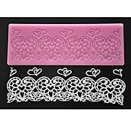 cuatro c color de molde de encaje pastel almohadilla de estampado corazón tapete de silicona rosa de encaje