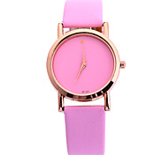 Women's Candy Color Fashion Simple Circular Belt China Movement Watch(Assorted Colors)