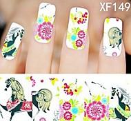1X10PCS Full-cover Nail Art Stickers Leopard Print Series XF1496